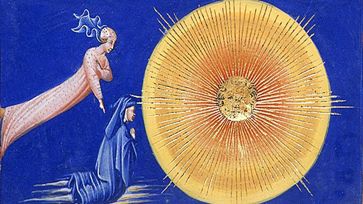 D'après La Divine Comédie, Dante et Béatrice. (Marsailly/Blogostelle)