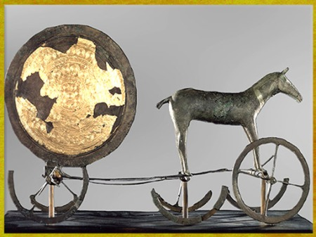 D'après un char solaire, sommaire l'âge du Bronze, histoire de l'art. (Marsailly/Blogostelle)
